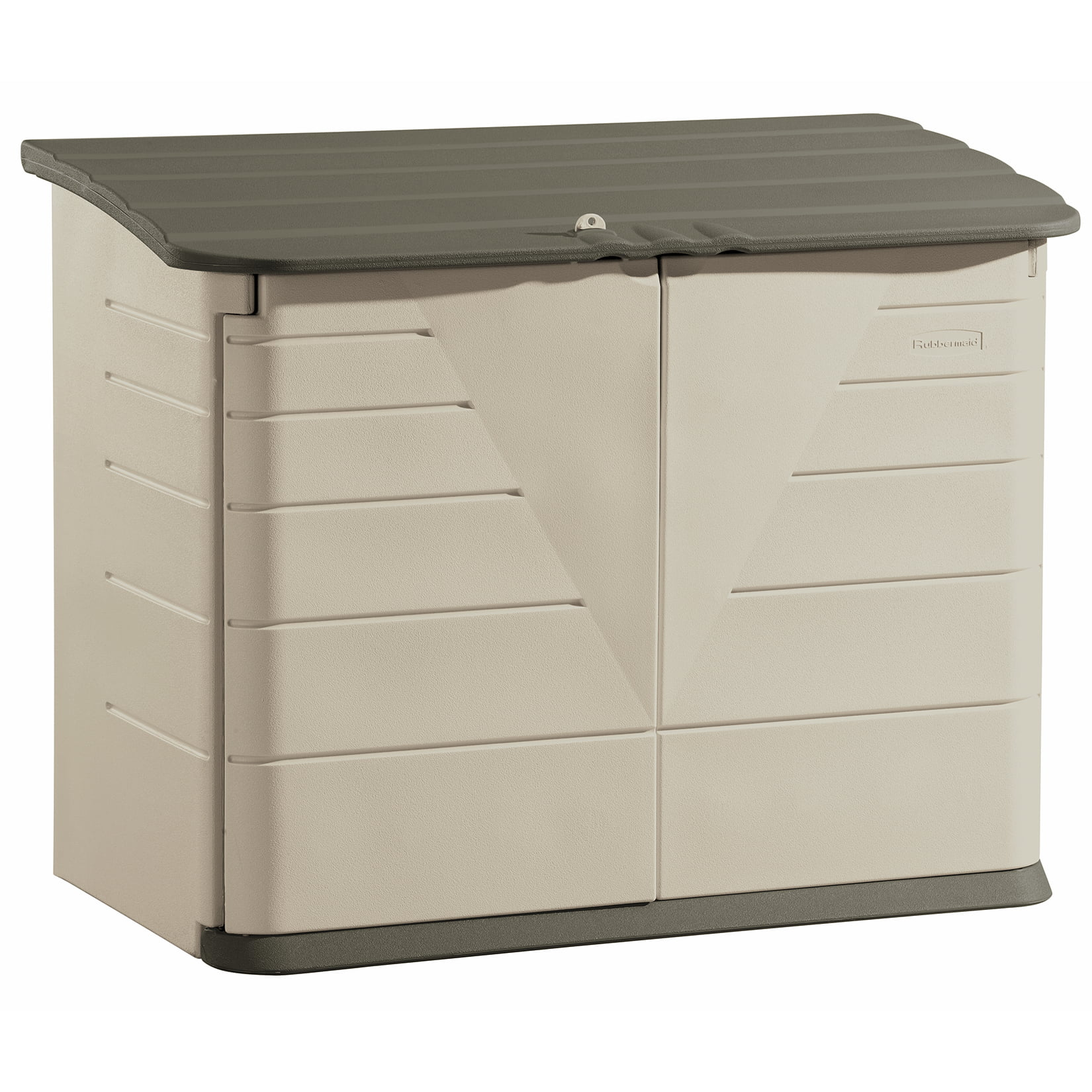 Rubbermaid Large Horizontal Storage Shed, Olive & Sandstone by Rubbermaid Home Products