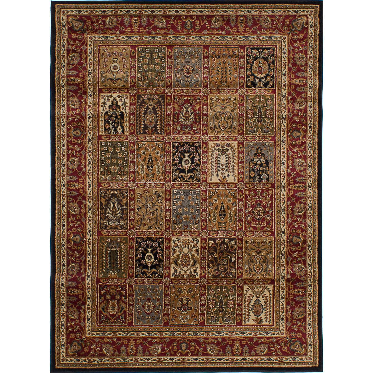 Ecarpetgallery  Handmade Royale Red Rug (5'3x7'4)