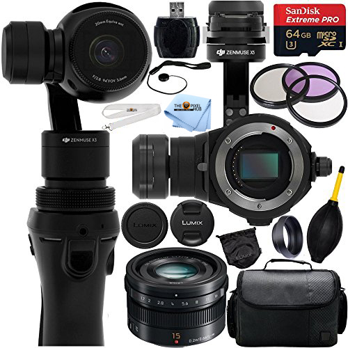 DJI Osmo Handheld 4K Camera & 3-Axis Gimbal w/ Zenmuse X5 Camera MEGA BUNDLE!!
