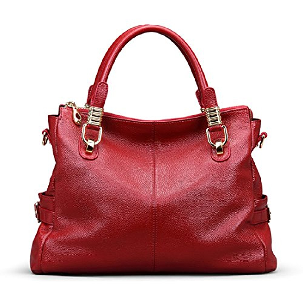 92b6103aae AINIMOER - AINIMOER Womens Genuine Leather Vintage Tote Shoulder Bag Top- handle Crossbody Handbags Large Capacity Ladies  Purse - Walmart.com