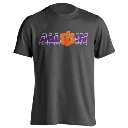 Clemson University Tigers Football All In Adult Short Sleeve (Sleeve Football Tee)