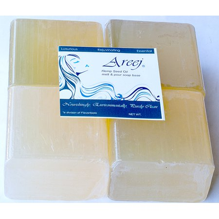 Areej Hypo-Allergenic Biodegradable Hemp Seed Oil Soap Base made with 100% Pure Natural Glycerin - 2 - Hemp Oil Soap