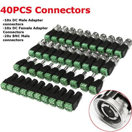 20PCS CAT5 TO BNC Passive Video + 20PCS Male Female Power Balun Transceiver  - image 6 de 9