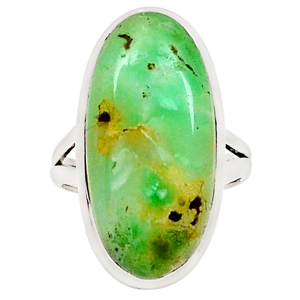 XTREMEGEMS Boulder Chrysoprase 925 Sterling Silver Ring Jewelry s.6.5 10322R by