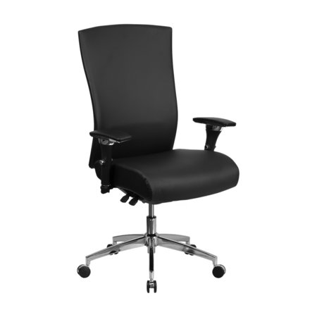 Offex HERCULES Series High Back Black Leather Multi-Functional Executive Swivel Chair with Seat