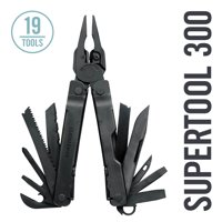 LEATHERMAN - Super Tool 300 Multitool with Premium Replaceable Wire Cutters and Saw, Black with MOLLE Sheath