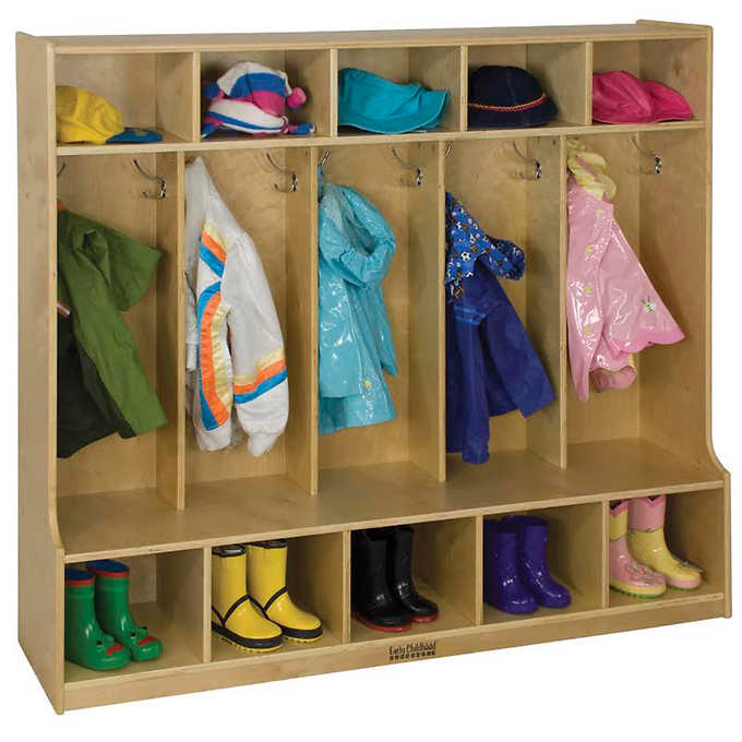 ECR4Kids - 5 Section Coat Locker with Bench - image 1 of 3