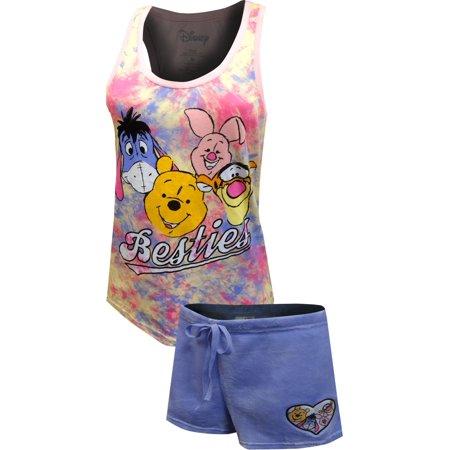 Winnie The Pooh Piglet and Eeyore Shortie Pajama - Infant Winnie The Pooh Costume