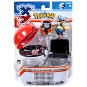 Pokemon XY TOMY Catch n Return Pokeball Mega Lucario Figure Set
