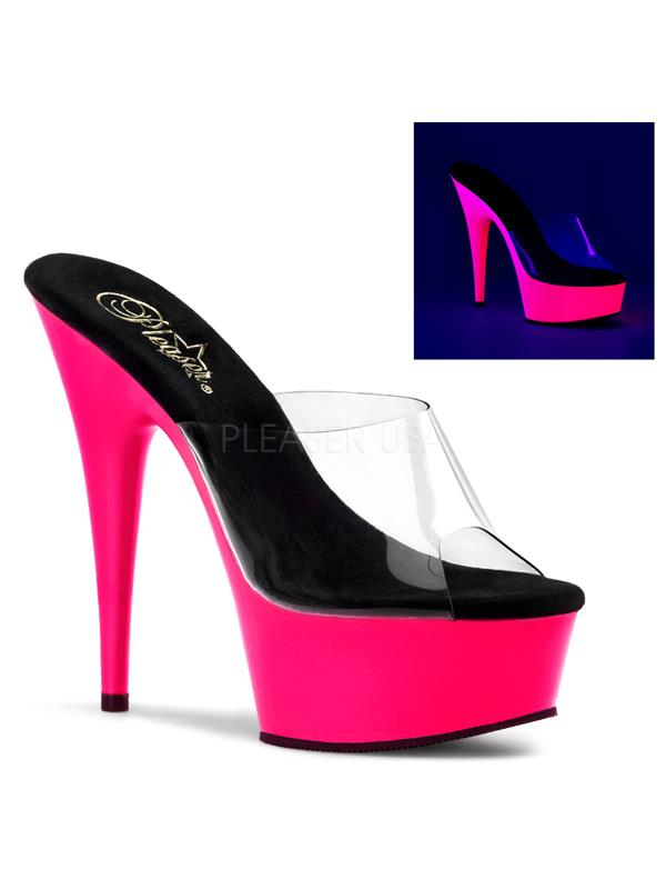 DEL601UV/C/NP Pleaser Platforms Exotic Dancing Specialty Shoes Size:13 CLEAR Size:13 Shoes 3dc1e6