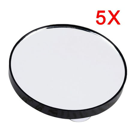 Mini Round Makeup Mirror 5X 10X 15X Magnifying Mirror With Two Suction Cups - image 1 of 10