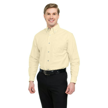 Tri Mountain Techno 750 Stain Resistant Oxford Shirt  2X Large  Butter