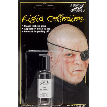 Mehron Rigid Collodion Professional Scarring .125oz FX Liquid, - Professional Costume Rental