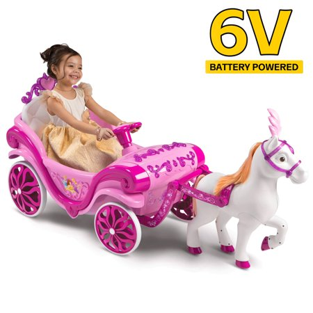 Disney Princess Girls' Royal Horse and Carriage Girls' Ride-On Toy by Huffy