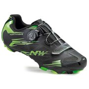 Northwave, Scorpius 2 Plus, MTB shoes, Black/Green Fluo, 44