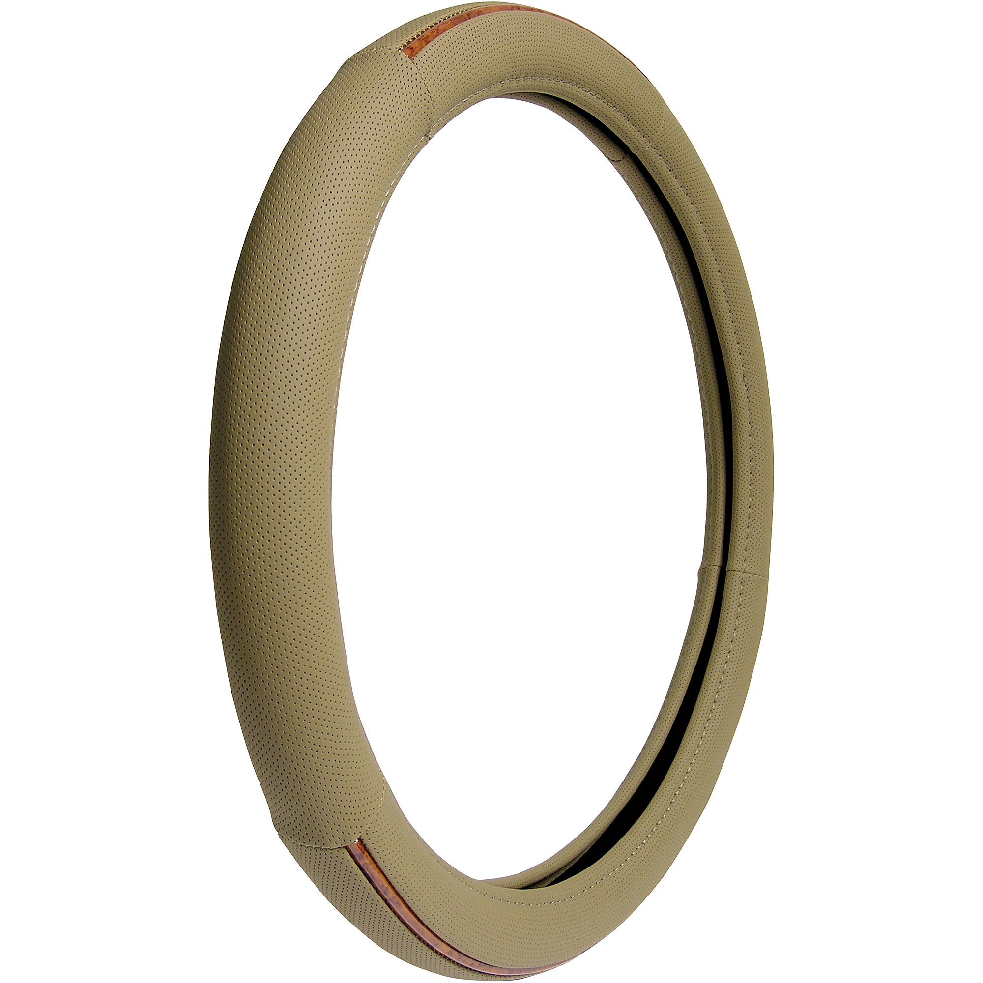 Auto Drive Steering Wheel Cover, Tan/Burlwood