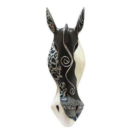 Sweet Safari Zebra (Abstract Black / White Zebra African Safari Wall Mask Africa Decor 20 Inch)
