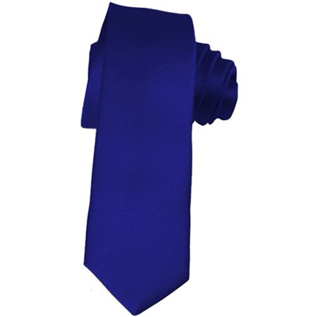 b109d3584475 K. Alexander - Skinny Royal Blue Ties by 2 Inch Solid Mens Neckties -  Walmart.com