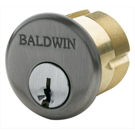 "Mortise 1.6"" x 4.3"" Cylinder Finish: Satin Brass and Black"