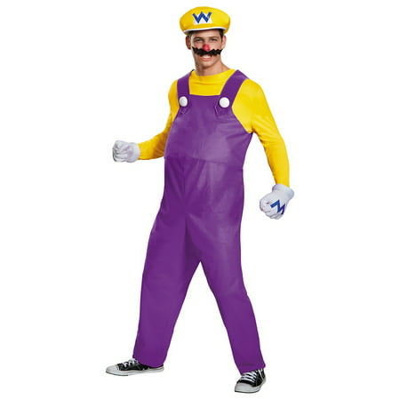 Deluxe Super Mario costumes Adult Costume Wario (purple & yellow) - XX-Large