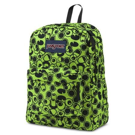Classic SuperBreak Backpack - Zap Green Double Vision (Green Jansport Backpack)