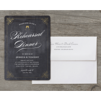Personalized Wedding Rehearsal Dinner Invitation - Classic Rehearsal - 5 x 7 Flat Deluxe