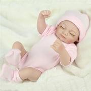 NPKDOLL 11'' Handmade Silicone Boy Girl Dolls RealisticNewborn Reborn Babies Vinyl Reborn Baby Doll for Toddler Gifts