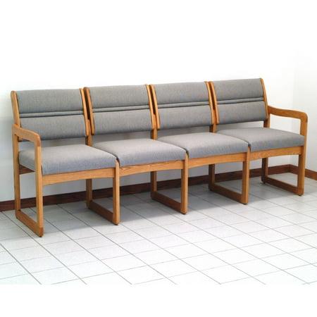 Wooden Mallet DW2-4 Solid Oak 4-Seat Sofa