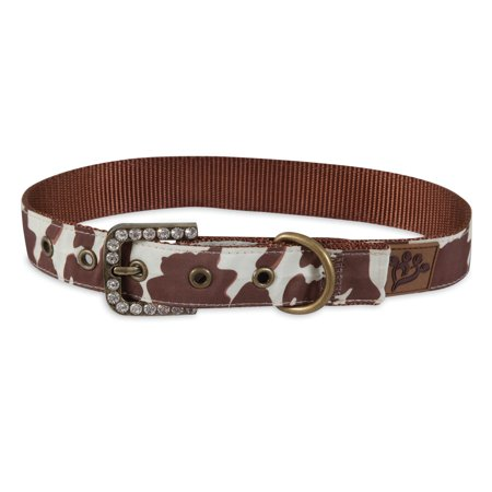 - Petmate MuttNation Fueled by Miranda Lambert Brown Cowhide Print Custom Fit Dog Collar Small