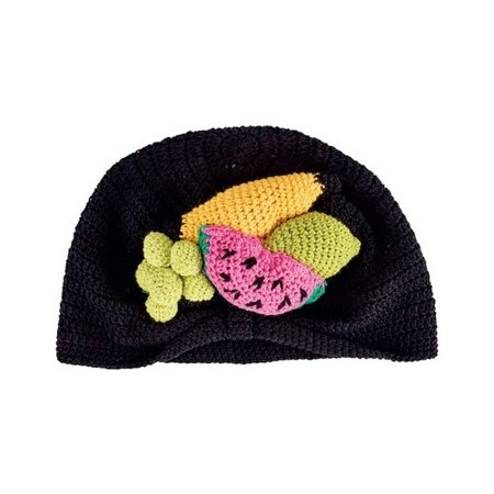 Infant San Diego Hat Company Crochet Fruit Basket Turban Beanie DL2542 Fruit XS (0-6M) - Fruit Hat