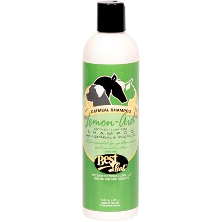 Best Shot Lemon Aid Oatmeal Pet Shampoo 16oz
