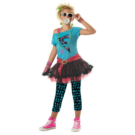 80's Valley Girl Child Halloween Costume - 80's Girl Halloween Costumes