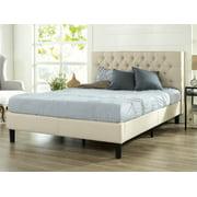 "Zinus Misty 40"" Upholstered Traditional Tufted Platform Bed, Full"