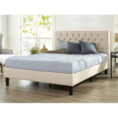 Zinus Misty Upholstered Traditional Tufted Platform Bed