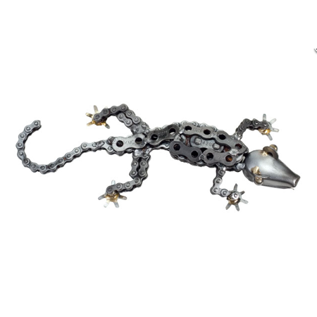 The Handcrafted - Recycled Metal Art (Gecko Lizard Metal)
