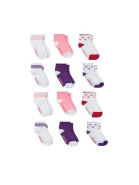 Hanes Ankle Socks, 12-Pack (Baby Girls & Toddler Girls)