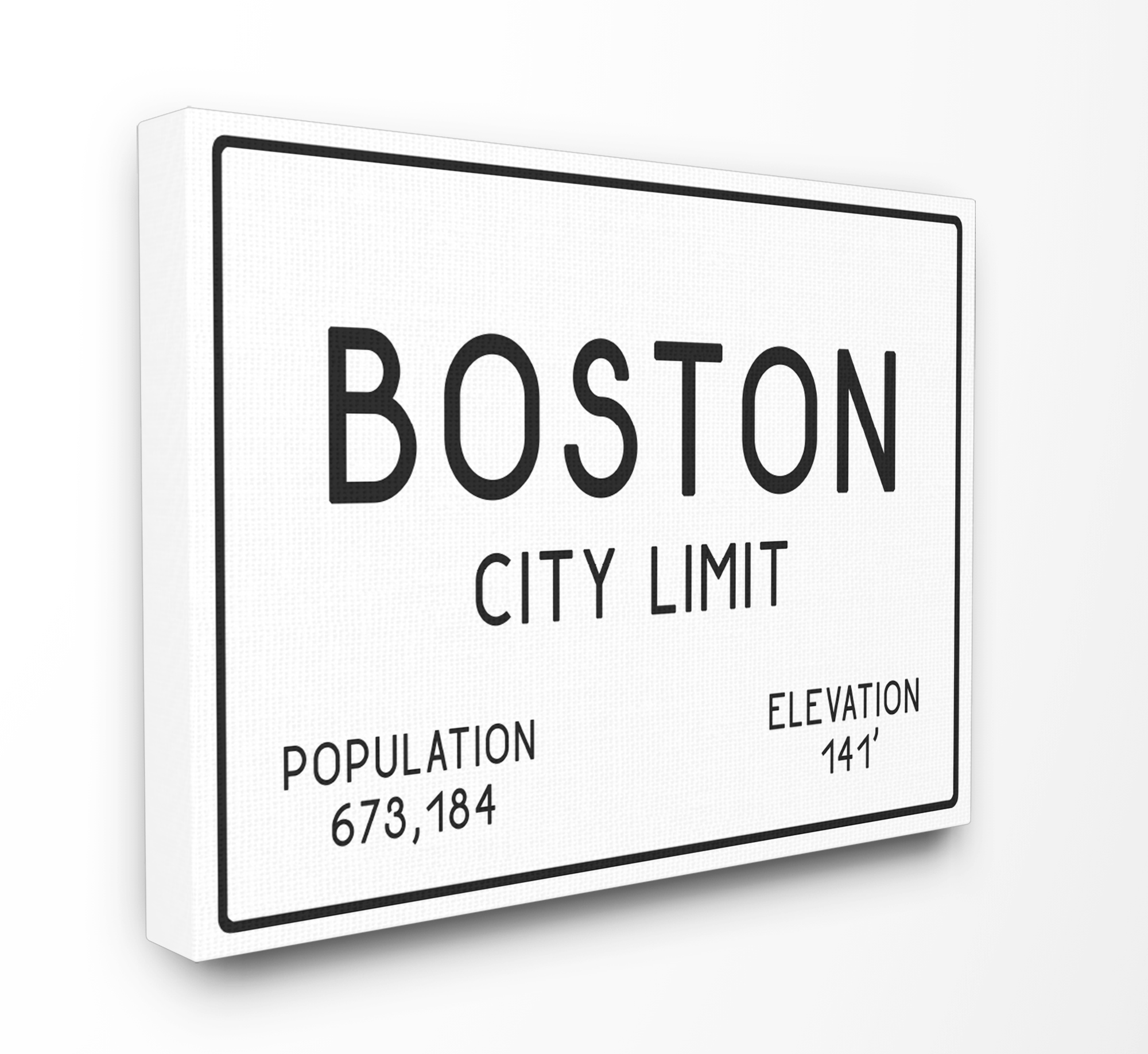 The Stupell Home Decor Collection Boston City Limit Oversized Stretched Canvas Wall Art