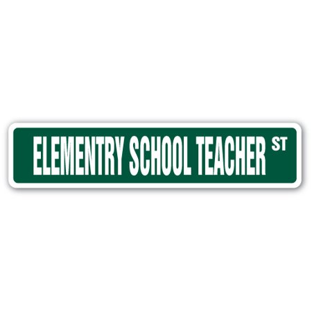 Elementry School Teacher Street Sign Kinder First Second Third Fourth Fifth Gift