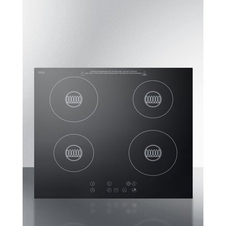 Summit Appliance Summit Built-In 23'' Induction Cooktop with 4 Burners and Cookware