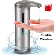 Automatic Soap Dispenser with Visible Window, Touchless Soap Dispenser
