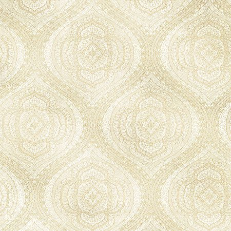 Kenneth James Zaida Champagne Paisley Damask (Champagne Wallpaper)