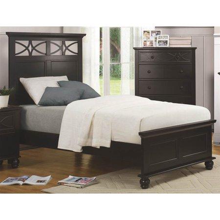 2 Pc Bedroom Set With Diamond Overlay Curves