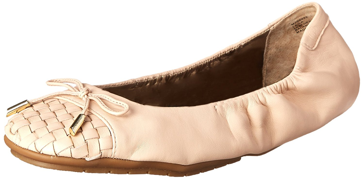 Me Too Womens Leila Leather Closed Toe Ballet Flats by Me Too