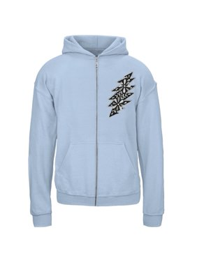 Grateful Dead - Black & White Calaveras Light Blue Youth Zip Hoodie - Youth Small