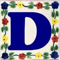 Bouquet Talavera Clay House Letter D, Set of 2 pcs