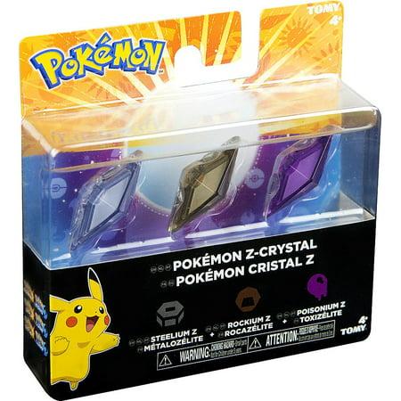 Pokemon Z-Ring Steelium Z, Rockium Z & Poisonium Z Crystal