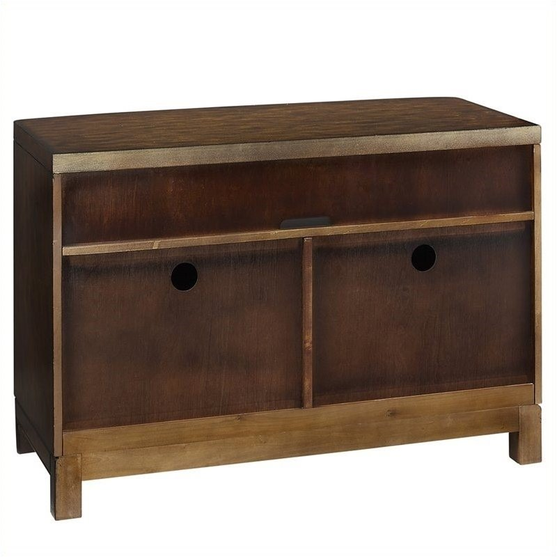 """Hawthorne Collections 44"""" TV Stand in Two Tone Tortoise Shell"""