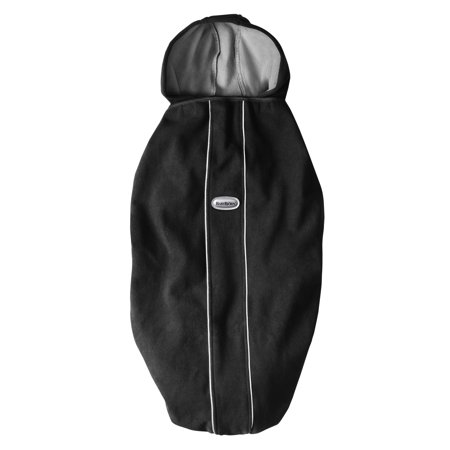 BabyBjorn Cover for Baby Carrier - City Black When its cold and wet out, the BABYBJORN Baby Carrier Cover keeps baby snug and dry. The cover is made of a soft and cuddly fleece fabric that is wind and watertight, but breathable. It features a protective, removable hood that is also reversible, allowing you to carry baby facing forward or toward you. The cover fits all BABYBJORN Baby Carriers and can be left in place on the carrier when you take the baby out. Cover can also be used as a cover or blanket for car seats and baby carriages. Machine washable.
