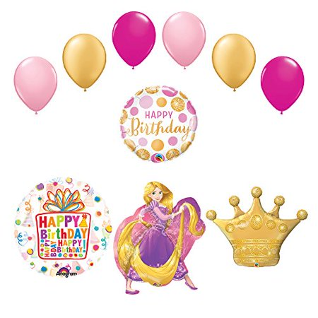Rapunzel Crown Princess Balloon Birthday Party Supplies and Decorations - Rapunzel Birthday Party