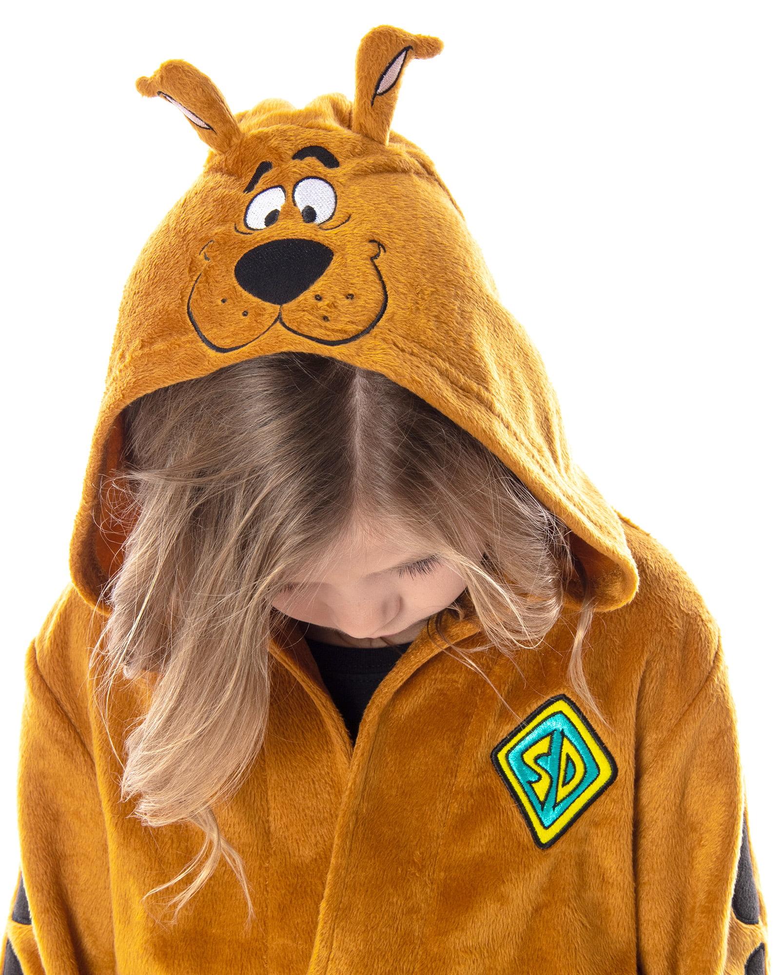 Scooby Doo Costume Zip-Up Bodysuit Hood and Ears Brown